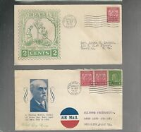 US FDC  FIRST DAY COVER  717 ARBOR DAY 1932 LOT OF 2