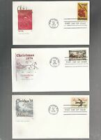 US FDC  FIRST DAY COVER  1550 1551 1552 CHRISTMAS 1974 LOT OF  3 BY FARNAM