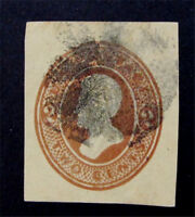 NYSTAMPS US CUT SQUARE STAMP  W137 USED $40