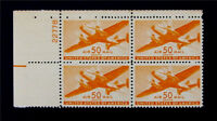 NYSTAMPS US AIR MAIL PLATE BLOCK STAMP  C31 MINT OG NH $48 P4