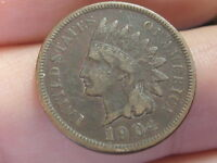 1904 INDIAN HEAD CENT PENNY VF/XF DETAILS PARTIAL LIBERTY