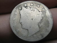 1887 LIBERTY HEAD V NICKEL   DATE