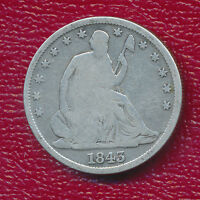 1843 O SILVER SEATED LIBERTY HALF DOLLAR COOL NEW ORLEANS COIN