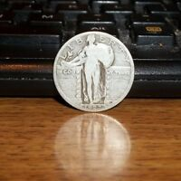 1927 P SILVER STANDING LIBERTY QUARTER 25 CENTS