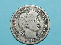 1916 S BARBER DIME NICE COIN  417