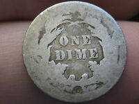 1888 P SEATED LIBERTY DIME  OLD TYPE COIN  FULL DATE
