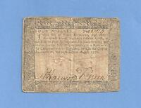 1776 $4 DOLLAR MARYLAND COLONIAL CURRENCY FINE CONDITION
