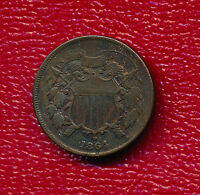 1864 2 CENT PIECE   CIRCULATED COPPER TWO CENT SHIPS FREE