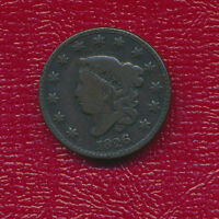1826 CORONET HEAD LARGE CENT DEEP BROWN COLOR   FULL LIBERTY