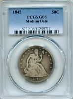 1842 LIBERTY SEATED HALF DOLLAR PCGS G06   50C 81255711