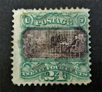 NYSTAMP US STAMP  120 USED $700 REPAIRED