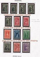 1875-1894 ISSUE  NEWSPAPER STAMP ASSORTMENT FROM GERMAN ALBUM