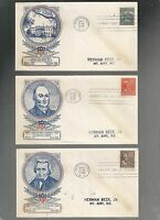 US FDC FIRST DAY COVERS PRESIDENTS SERIES    1938   LOT OF 5