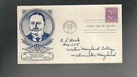 US FDC FIRST DAY COVERS PRESIDENTS SERIES    1938  WILLIAM FAFT 50 CENTS
