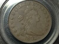 1802 PCGS GENUINE  DRAPED BUST HALF DOLLAR  EXTRA FINE -AU   COIN