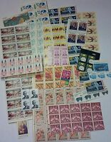 UNUSED 100 ASSORTED MIXED MULTIPLES & SINGLES OF 10 US POSTAGE STAMPS FV $10.0