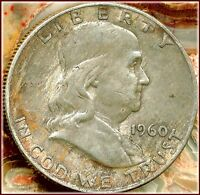 1960 D FRANKLIN HALF  OFFERED JUST OVER SILVER VALUE    SPECIAL BUY PRICE $8.95