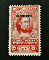 NYSTAMP US REVENUE STAMP  R504 MINT WITH GUM H $400