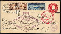 [/27] USA 1930  COVER WITH SCOTTC14 C15 FIRST FLIGHT - ZEPPELIN