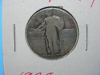 1928 P SILVER STANDING LIBERTY QUARTER IN ABOUT G/VG CONDITION