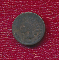 1873 INDIAN HEAD CENT OPEN 3 SEMI KEY DATE A NICE CIRCULATED CENT FREE SHIP
