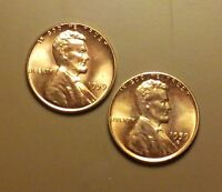 1959 P & D LINCOLN MEMORIAL PENNY BR. UNCIRCULATED  2 COINS  BN692