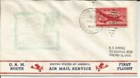1947 FIRST FLIGHT COVER AM 74S2F FLOWN FROM AMF CHEYENNE WYOMING