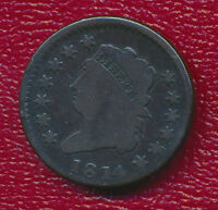 1814 CLASSIC HEAD LARGE CENT HIGHLY COLLECTIBLE TYPE COIN