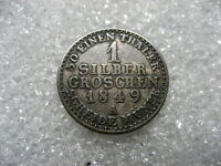 COIN GERMANY 1849 A GROSCHEN,PRUSSIA,SILVER