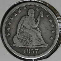 BETTER DATE 1857 O SEATED LIBERTY QUARTER DOLLAR