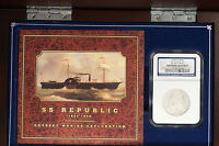 1860 O SEATED LIBERTY HALF DOLLAR SS REPUBLIC NGC SHIPWRECK EFFECT