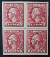 CKSTAMPS: US STAMPS SCOTT534 2C BLOCK MINT H OG 1 TINY THIN OTHERWISE NH