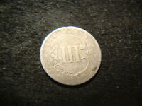 1851 O  FINE FULL DATE THREE CENT 3 CENT SILVER FLA