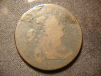 1797  DATED DRAPED BUST LARGE CENT DECENT READABLE DATE COIN PC
