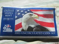 2003 P&D US MINT SET COINS  MINT SEALED  UNOPENED  MAY FIND AN ERROR
