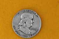 1954 UNITED STATES FRANKLIN SILVER HALF DOLLAR 50C