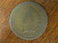 1864 1C BRONZE INDIAN HEAD PENNY   GOOD CONDITION