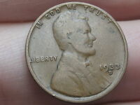 1933 D LINCOLN CENT WHEAT PENNY  VG DETAILS CHOCOLATE BROWN