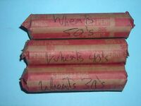 WHEAT CENT 3 FULL ROLL'S OF 50 CENTS ABOVE AVG 1930'S-1950'S LINCOLN CENT LOT1