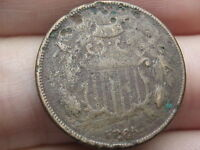 1865 TWO 2 CENT PIECE- CIVIL WAR TYPE COIN