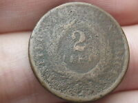 1864 TWO 2 CENT PIECE- CIVIL WAR TYPE COIN, DUG? METAL DETECTOR FIND?