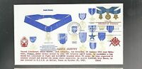 US FDC   2045 MEDAL OF HONOR 1983  MASONIC BY EDSEL  AUDIE MURPHY WW II