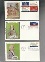 US FDC FIRST DAY  1543 1546 CONTINENTAL CONGRESS 1974 SET OF 5 COLORANO SILK