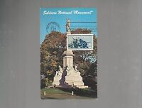US FDC  1963   1180 GETTYSBURG CIVIL WAR    POST CARD SOLDIERS  MONUMENT PA