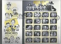 US FDC FIRST DAY COVER  4414 EARLY TV MEMORIES 2009 FULL SHEET LARGE ENVELOPE