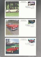 US FDC FIRST DAY COVER  3931 3935 SPORTY CARS 2005 SET OF 5 BY MYSTIC