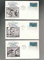 US FDC FIRST DAY COVERS   1684 COMMERCIAL AVIATION 1976  LOT OF 6 FLEETWOOD