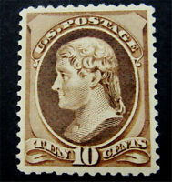 NYSTAMPS US STAMP  209 MINT OG H $160