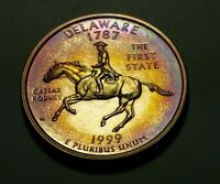 TONED 1999 S CLAD PROOF DELAWARE STATE QUARTER  W25647