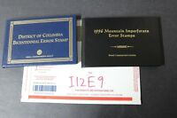 CKSTAMPS : ASSORTED MINT US ERROR EFO IMPERF STAMPS COLLECTION IN 2 FOLDERS